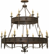 Meyda Tiffany 162417 Calandra Gilded Tobacco Chandelier Lamp