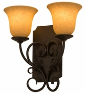 Meyda Tiffany 162462 Thierry Traditional Chestnut Textured Lamp Sconce