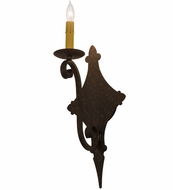 Meyda Tiffany 162463 Angelique Traditional Copper Rust Textured Wall Sconce Lighting