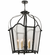 Meyda Tiffany 162523 Citadel Gun Metal/Clear Seedy Glass Foyer Light Fixture