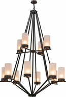 Meyda Tiffany 162559 Galen Smoke / Clear Frosted Acrylic Chandelier Light