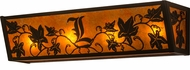 Meyda Tiffany 162667 Personalized Grapevine Rustic Timeless Bronze / Amber Mica Vanity Light Fixture