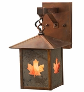 Meyda Tiffany 162730 Seneca Maple Leaf Burgundy Vintage Copper Outdoor Wall Sconce Lighting