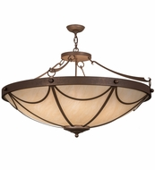 Meyda Tiffany 162887 Carousel Antique Rust Overhead Lighting Fixture
