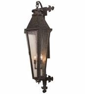 Meyda Tiffany 162946 Millesime Traditional Coffee Bean On Brass Clear Seedy Glass Outdoor Wall Light Sconce