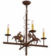Meyda Tiffany 163306 Cowboy Country Rusty Nail Lighting Chandelier