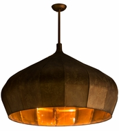 Meyda Tiffany 163363 Punjab Tarnished Copper Matte Hanging Lamp