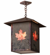 Meyda Tiffany 163424 Seneca Maple Leaf Bai Vintage Copper Hanging Light