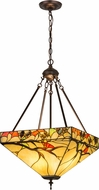 Meyda Tiffany 163669 Woodland Berries Tiffany Mahagony Bronze Hanging Light Fixture