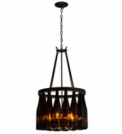 Meyda Tiffany 163818 Tuscan Vineyard Estate Modern Timeless Bronze Pendant Lighting Fixture
