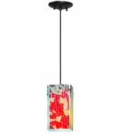 Meyda Tiffany 164108 Metro Fusion Fire and Ice Branches Contemporary Branches Dichroic/Tranmits Red/Feflects Blue Mini Ceiling Pendant Light