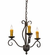 Meyda Tiffany 164383 Sienna Copper Rust Mini Ceiling Chandelier