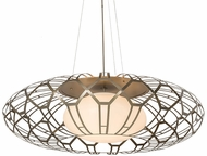 Meyda Tiffany 165155 Margo Mizner Contemporary Satin Titanium Lighting Pendant