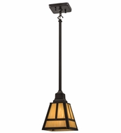 Meyda Tiffany 165699  T  Mission Craftsman Mini Hanging Lamp