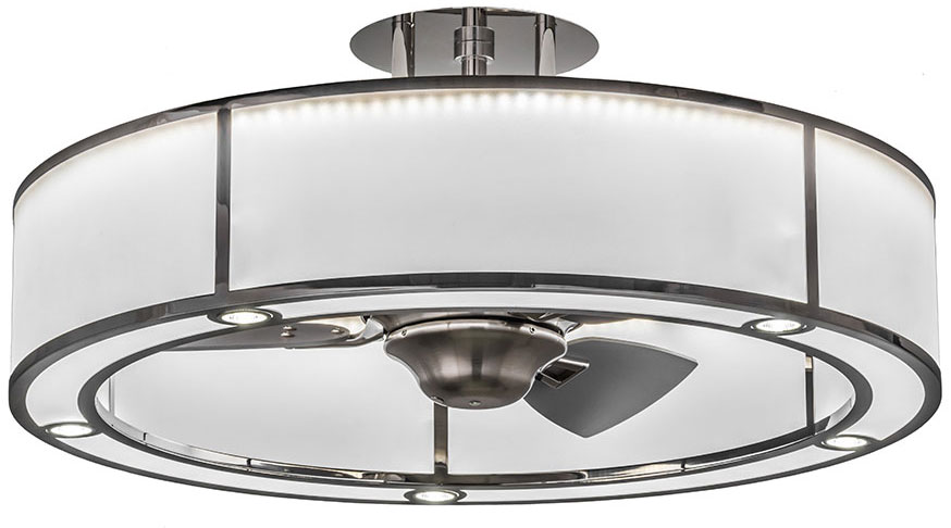 Meyda tiffany 165941 smythe craftsman polished stainless steel meyda tiffany 165941 smythe craftsman polished stainless steel nickel led chandel air ceiling fan loading zoom aloadofball Choice Image