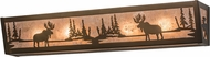Meyda Tiffany 166510 Moose at Lake Country Antique Copper / Silver Mica Bath Light Fixture