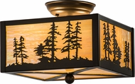 Meyda Tiffany 167261 Tall Pines Rustic Timeless Bronze Overhead Lighting Fixture