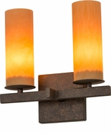 Meyda Tiffany 170140 Dante Gilded Tobacco Tea Stained Acrylic Wall Light Fixture