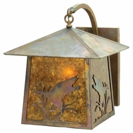 Meyda Tiffany 17102 Stillwater Duck 14  Wide Outdoor Sconce Lighting