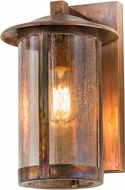 Meyda Tiffany 171561 Fulton Seedy Glass Vintage Copper Outdoor Wall Lighting Sconce