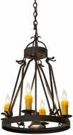 Meyda Tiffany 171587 Lakeshore Chestnut Mini Chandelier Lamp