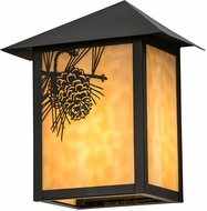 Meyda Tiffany 172290 Seneca Winter Pine Rustic Beige Craftsman Outdoor Wall Sconce