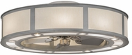Meyda Tiffany 172364 Smythe Craftsman Contemporary Nickel Eggshell Hardback Chandel-Air Home Ceiling Fan