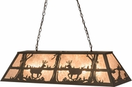Meyda Tiffany 172576 Deer at Lake Country Oil Rubbed Bronze / Silver Mica Island Lighting