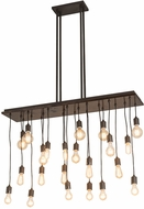 Meyda Tiffany 172859 Alva Contemporary Oil Rubbed Bronze / Dark Walnut Multi Pendant Lighting Fixture