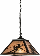 Meyda Tiffany 172946 Alpine Country Black / Silver Mica Pendant Hanging Light