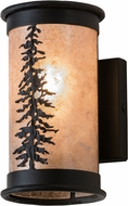 Meyda Tiffany 173132 Tall Pine Rustic Textured Black / Silver Mica Lamp Sconce