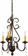 Meyda Tiffany 173174 French Elegance Chestnut Mini Hanging Chandelier