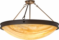 Meyda Tiffany 173512 Dionne Modern Cafe Noir Flush Mount Light Fixture