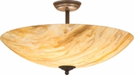 Meyda Tiffany 173513 Madison Contemporary Cafe Noir Flush Mount Lighting Fixture
