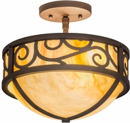 Meyda Tiffany 173514 Lilliana Modern Cafe Noir Flush Ceiling Light Fixture