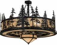 Meyda Tiffany 173713 Tall Pines Country Black Sahara Taupe Idalight Chandel-Air Ceiling Fan