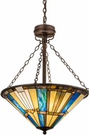 Meyda Tiffany 173735 Beachfront Tiffany Mahogany Bronze Hanging Light