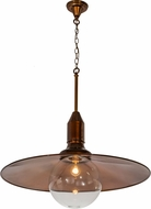 Meyda Tiffany 173885 Schotel Modern Trans Copper / Clear Globe Pendant Light