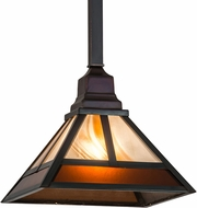 Meyda Tiffany 174097  T  Mission Tiffany Double Medium Amber Chemical Antique Brass Pendant Lamp