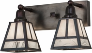 Meyda Tiffany 174103  T  Mission Chemical Antique Brass Bathroom Vanity Lighting