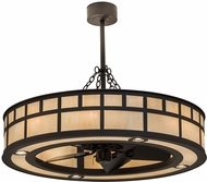 Meyda Tiffany 174574  T  Mission Oil Rubbed Bronze / Carmel Onyx Chandel-Air Home Ceiling Fan