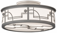 Meyda Tiffany 174675 Revival Deco Raw Steel / White Acrylic Ceiling Lighting