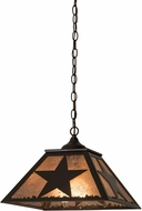Meyda Tiffany 174699 Texas Star Timeless Bronze / Silver Mica Hanging Pendant Lighting