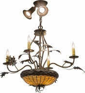 Meyda Tiffany 174910 Greenbriar Oak Rustic Burnished Antique Copper Lighting Chandelier