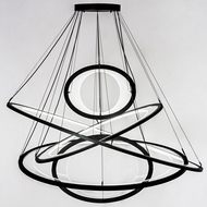 Meyda Tiffany 174918 Anillo Ellipse Contemporary Solar Black LED Pendant Hanging Light