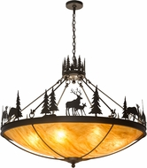 Meyda Tiffany 174948 Deer Family Country Timeless Bronze Phosphated Drop Lighting
