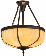 Meyda Tiffany 175323 Arts & Crafts Dome Reverse Craftsman Brown Pendant Lighting