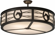 Meyda Tiffany 175488 Horseshoe Timeless Bronze White Acrylic Ceiling Light Fixture