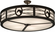 Meyda Tiffany 175489 Horseshoe Timeless Bronze White Acrylic Ceiling Lighting Fixture