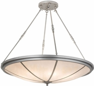 Meyda Tiffany 175509 Commerce Modern Nickel Faux Alabaster Acrylic Pendant Light